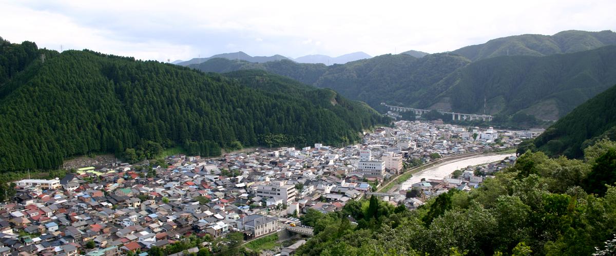 郡上八幡「城から見る城下町」の写真